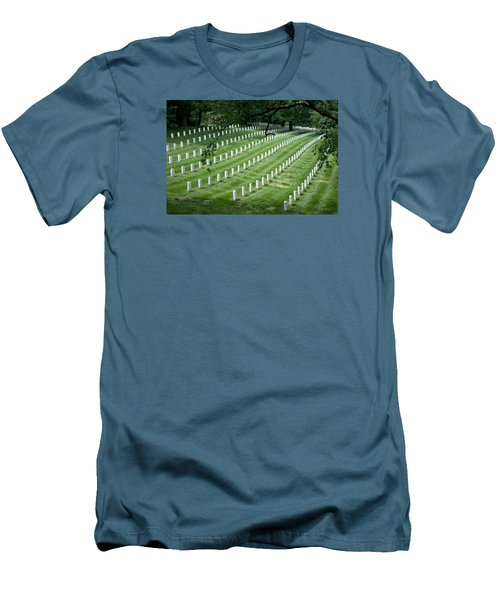 Men's T-Shirt (Slim Fit) featuring the photograph Arlington National Cemetery by Tim Stanley