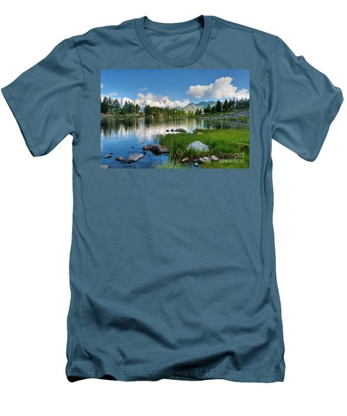 Arpy Lake - Aosta Valley Men's T-Shirt (Athletic Fit)