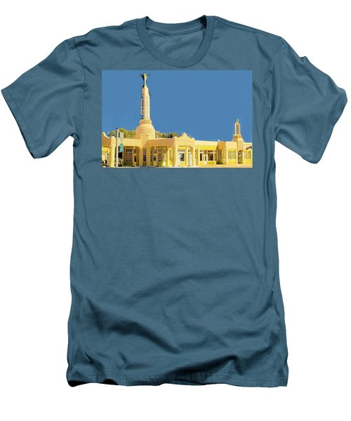 Men's T-Shirt (Slim Fit) featuring the photograph Art Deco Gas Station by Janette Boyd