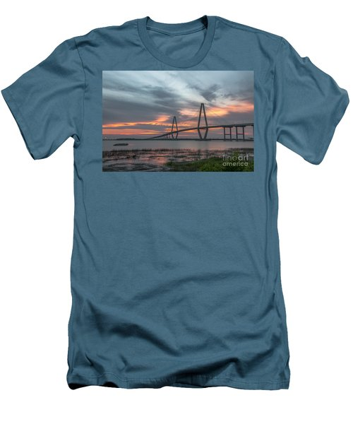 Men's T-Shirt (Slim Fit) featuring the photograph Orange Nebulous by Dale Powell