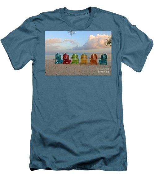 Aruba Sunrise 0746a Men's T-Shirt (Athletic Fit)