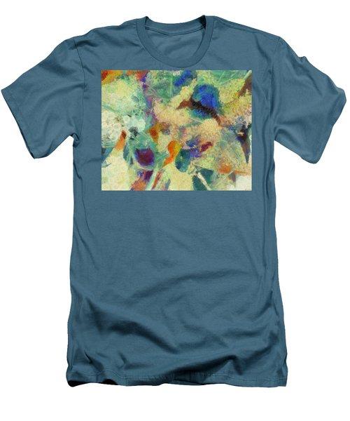 Men's T-Shirt (Slim Fit) featuring the painting As Our Eyes Met by Joe Misrasi