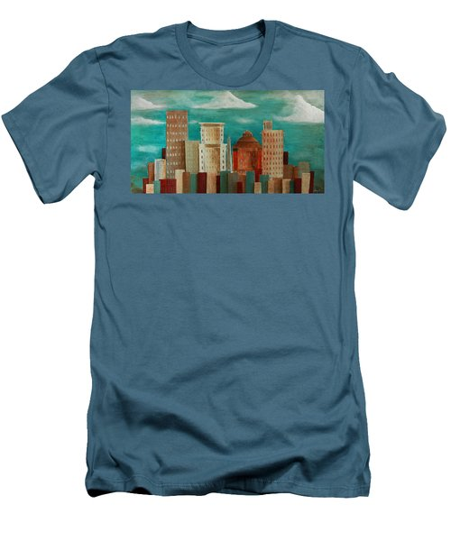 Asheville Skyline Men's T-Shirt (Athletic Fit)