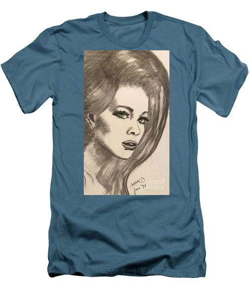Men's T-Shirt (Slim Fit) featuring the drawing Ashton by Marianne NANA Betts