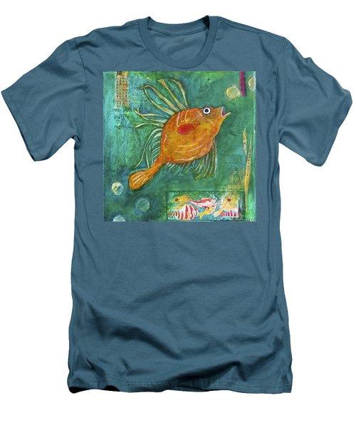 Asian Fish Men's T-Shirt (Slim Fit) by Bellesouth Studio