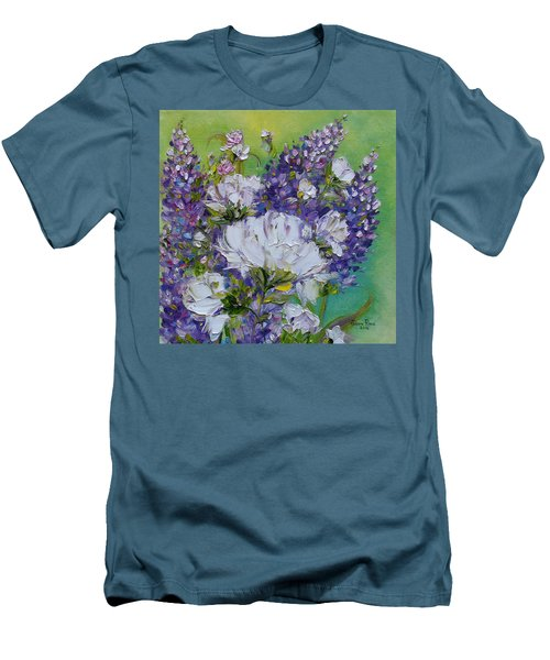 Men's T-Shirt (Athletic Fit) featuring the painting At Peg's Request by Judith Rhue