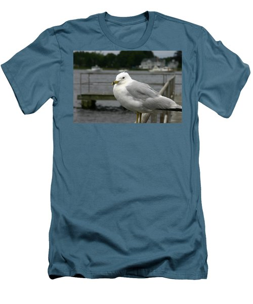 Men's T-Shirt (Slim Fit) featuring the photograph At The Boat Landing by Denyse Duhaime