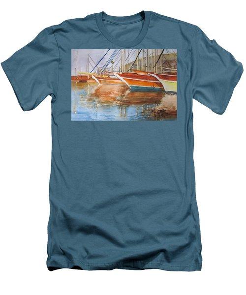 At The Dock Men's T-Shirt (Slim Fit) by Maris Sherwood
