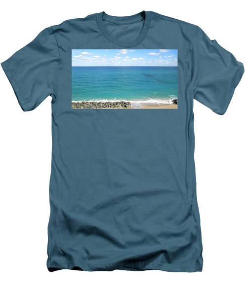 Atlantic Ocean In South Florida Men's T-Shirt (Athletic Fit)