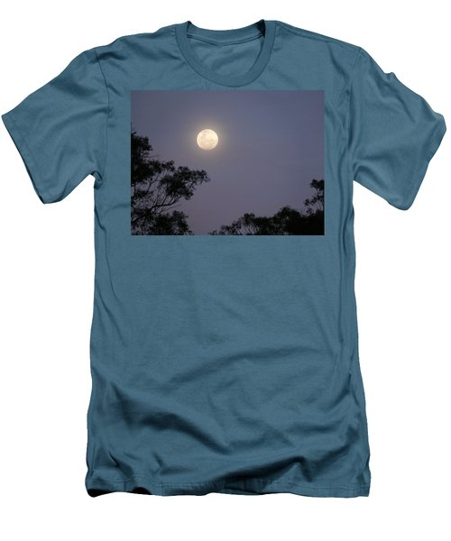 August Moon Men's T-Shirt (Slim Fit) by Evelyn Tambour