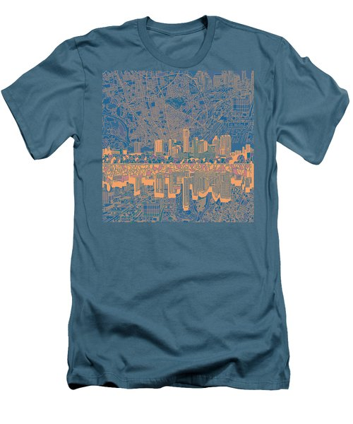 Austin Texas Skyline 2 Men's T-Shirt (Slim Fit) by Bekim Art