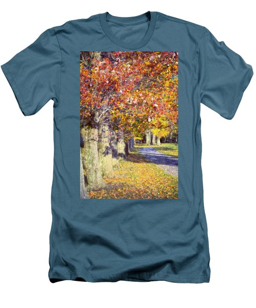 Autumn In Hyde Park Men's T-Shirt (Slim Fit) by Joan Carroll