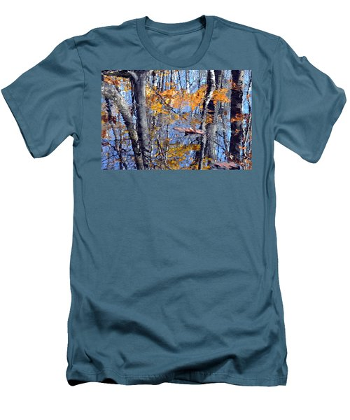 Autumn Reflection With Leaf Men's T-Shirt (Athletic Fit)