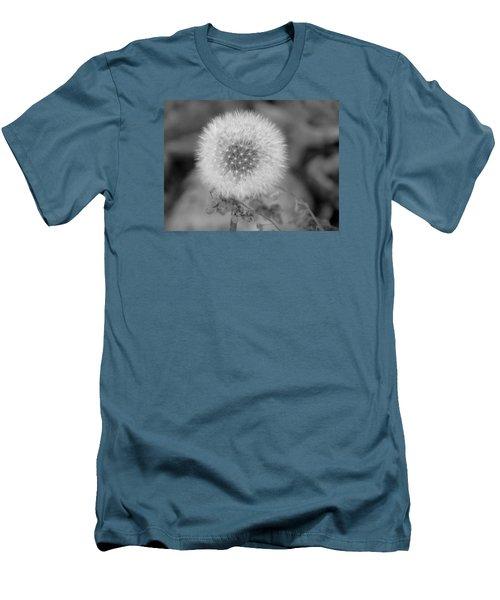 B And W Seed Head Men's T-Shirt (Slim Fit) by David T Wilkinson