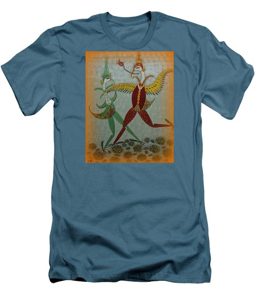 Babe Let's Tango Men's T-Shirt (Slim Fit) by Marie Schwarzer