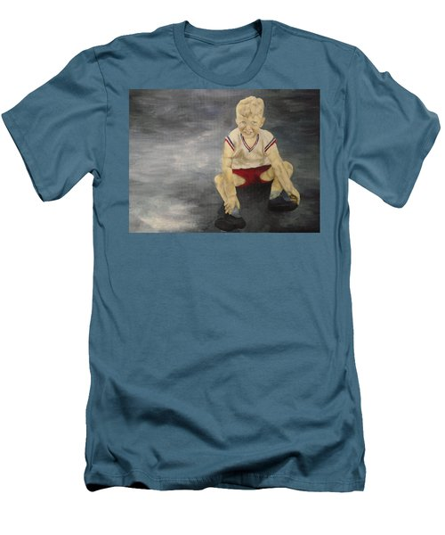 Men's T-Shirt (Slim Fit) featuring the painting Baby Bill  by Mary Ellen Anderson