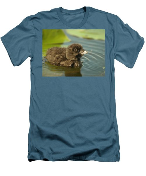 Men's T-Shirt (Slim Fit) featuring the photograph Baby Loon by James Peterson