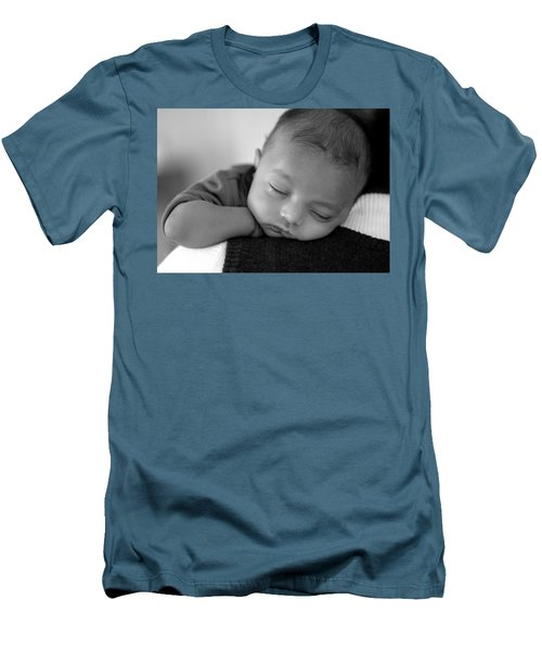 Baby Sleeps Men's T-Shirt (Athletic Fit)