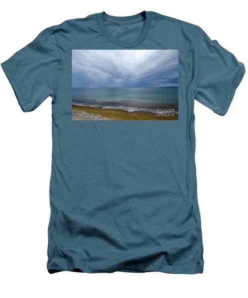 Men's T-Shirt (Slim Fit) featuring the photograph Bad Weather Approaching At The Coast by Kennerth and Birgitta Kullman