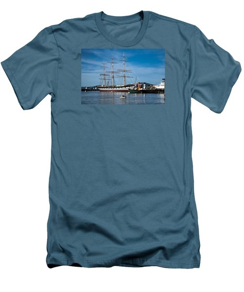 Rowing Past Balclutha And Steamship Eppleton Hall Men's T-Shirt (Athletic Fit)
