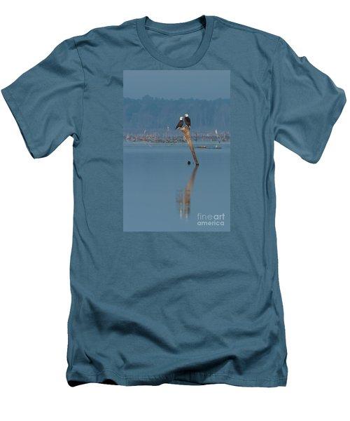 Bald Eagle Pair Men's T-Shirt (Slim Fit) by Paul Rebmann