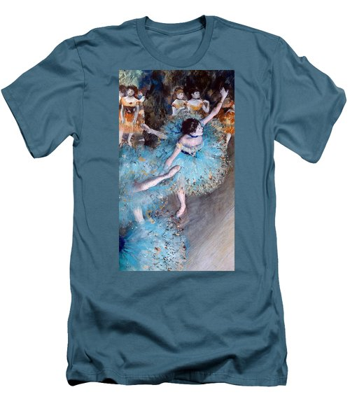 Ballerina On Pointe  Men's T-Shirt (Athletic Fit)