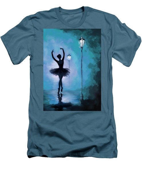 Ballet In The Night  Men's T-Shirt (Athletic Fit)