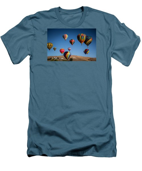 Men's T-Shirt (Slim Fit) featuring the photograph Balloons Over Northern Nevada by Janis Knight
