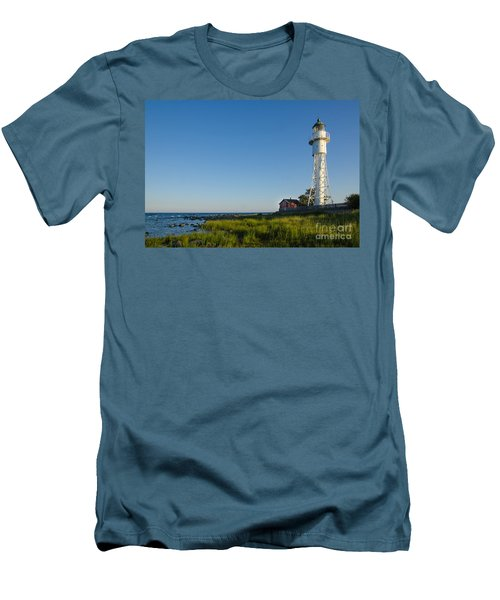 Baltic Sea Lighthouse Men's T-Shirt (Slim Fit) by Kennerth and Birgitta Kullman