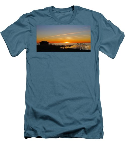 Baltic Sea Sunset Men's T-Shirt (Slim Fit) by Kennerth and Birgitta Kullman