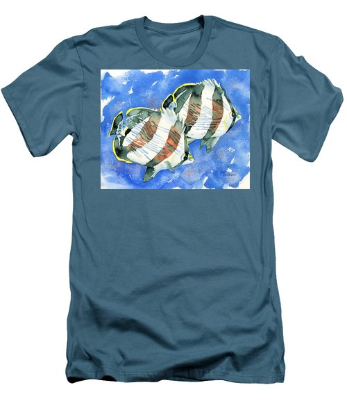 Banded Butterflyfish Men's T-Shirt (Athletic Fit)