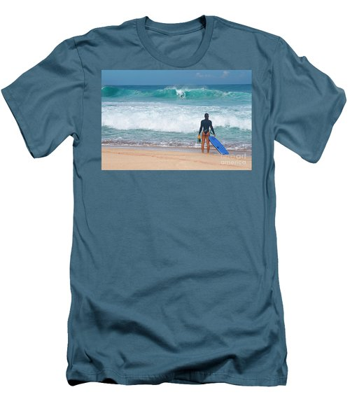 Banzai Pipeline Aqua Dream Men's T-Shirt (Slim Fit) by Aloha Art