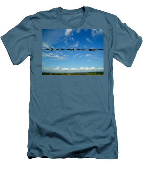 Men's T-Shirt (Slim Fit) featuring the photograph Barbed Sky by Nina Ficur Feenan
