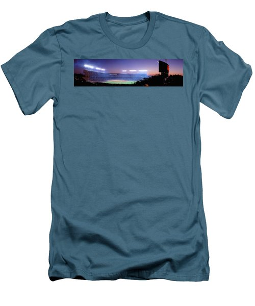 Baseball, Cubs, Chicago, Illinois, Usa Men's T-Shirt (Slim Fit) by Panoramic Images