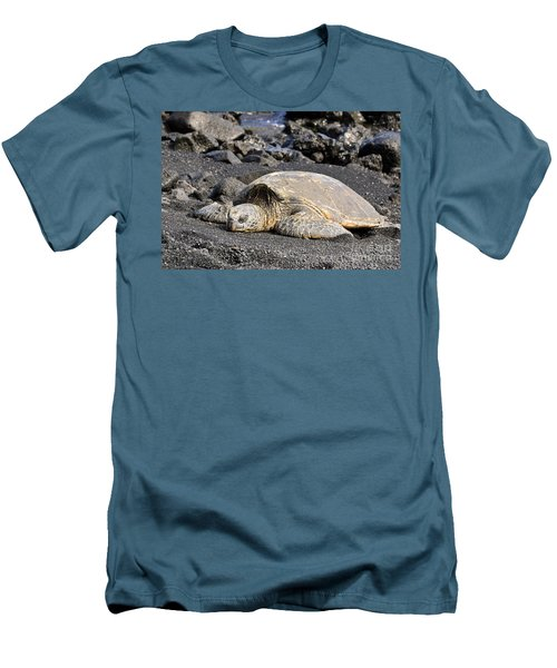 Basking In The Sun Men's T-Shirt (Slim Fit) by David Lawson