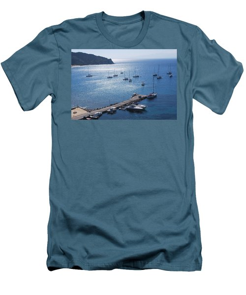 Men's T-Shirt (Slim Fit) featuring the photograph Bay Of Porto by George Katechis