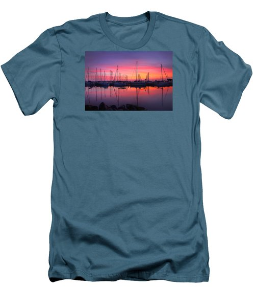 Bayfield Wisconsin Magical Morning Sunrise Men's T-Shirt (Athletic Fit)