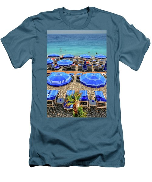 Beach At Nice France Men's T-Shirt (Athletic Fit)
