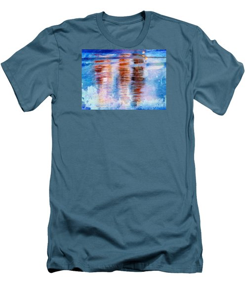Beach Colors Men's T-Shirt (Slim Fit) by Marcia Lee Jones