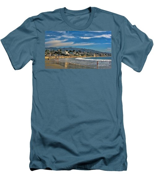 Beach Fun Men's T-Shirt (Slim Fit) by Tammy Espino