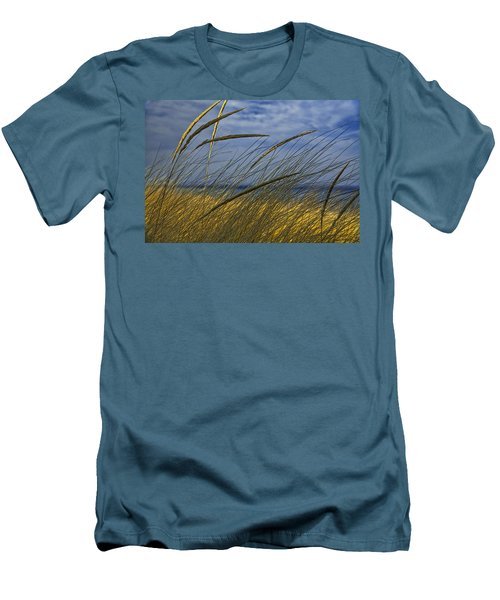 Beach Grass On A Sand Dune At Glen Arbor Michigan Men's T-Shirt (Athletic Fit)