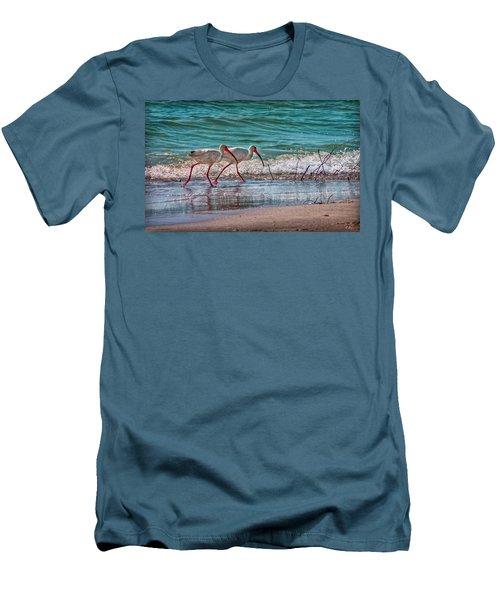 Beach Jogging In Twos Men's T-Shirt (Slim Fit)
