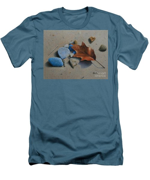 Men's T-Shirt (Slim Fit) featuring the painting Beach Still Life II by Pamela Clements