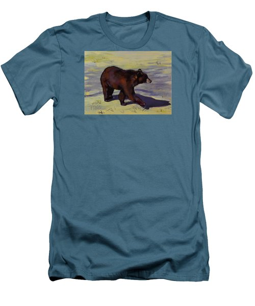 Men's T-Shirt (Slim Fit) featuring the painting Bear Shadows by Pattie Wall
