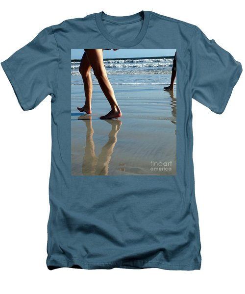 Men's T-Shirt (Slim Fit) featuring the photograph Beat Feet by Irma BACKELANT GALLERIES