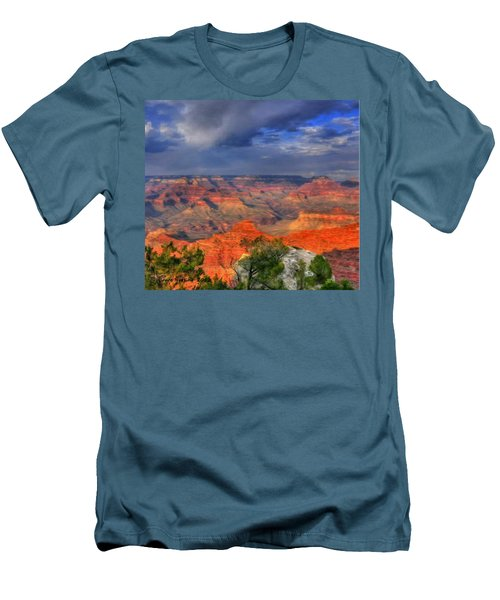 Men's T-Shirt (Slim Fit) featuring the painting Beautiful Canyon by Bruce Nutting