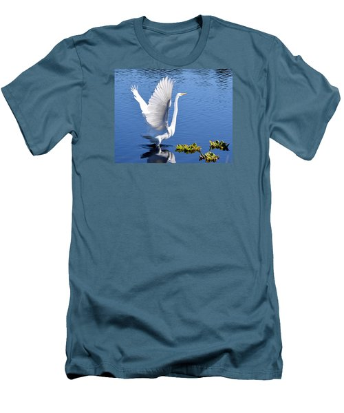 Beautiful Grest White Egret Men's T-Shirt (Athletic Fit)