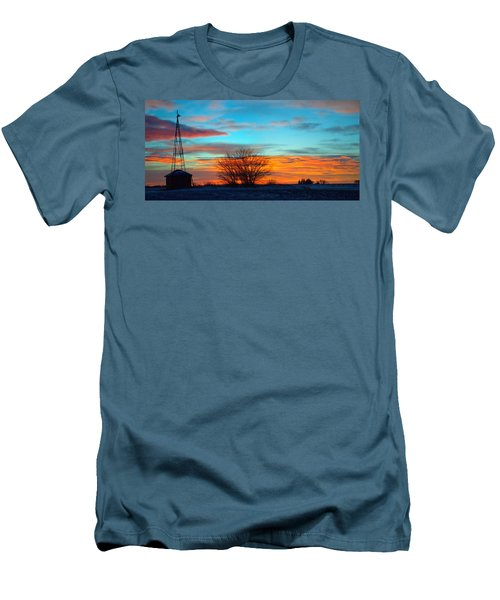 Beautiful Mornin' Panorama Men's T-Shirt (Slim Fit) by Bonfire Photography