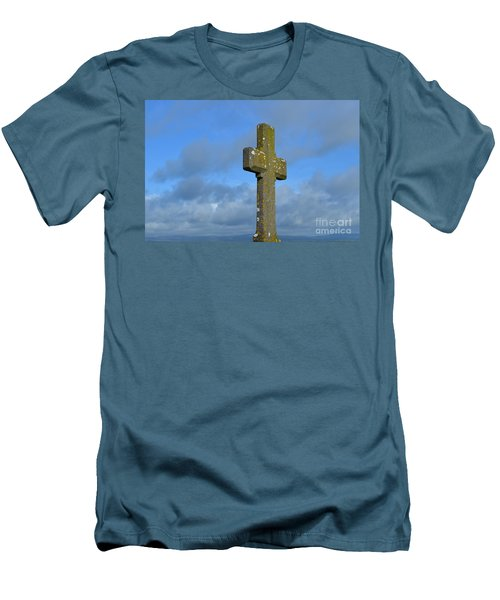 Beautiful Stone Cross In Ireland Men's T-Shirt (Slim Fit) by DejaVu Designs