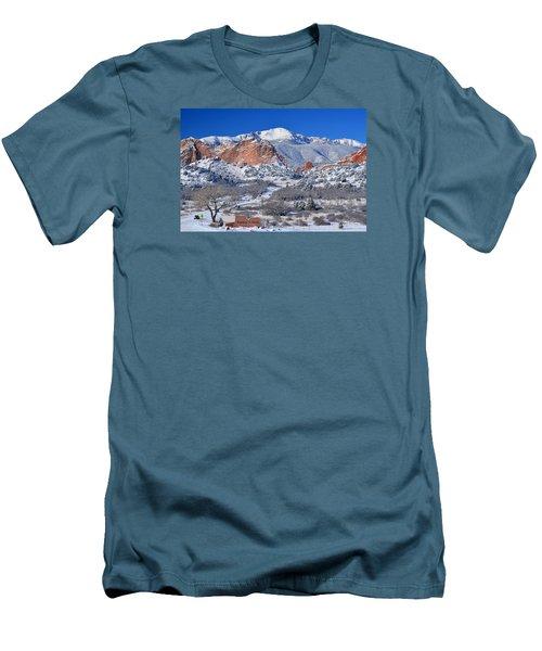 Beautiful Winter Garden Of The Gods Men's T-Shirt (Slim Fit) by John Hoffman